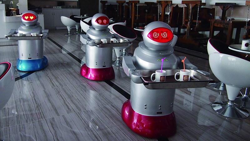 机器人线束在送菜机器人中的应用